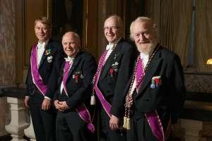 Musikerne som fremførte Royal Arch-musikk under møtet.