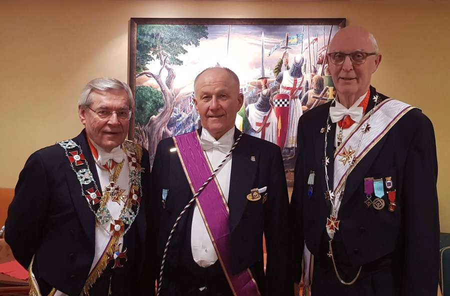 Fra venstre: Ragnar Tollefsen, Harald Johansen, Per-Trygve Kongsnes