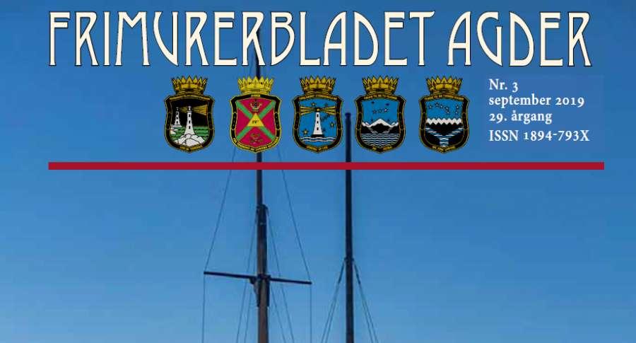 Nytt nummer av Frimurerbladet Agder (3-2019) tilgjengelig for nedlasting