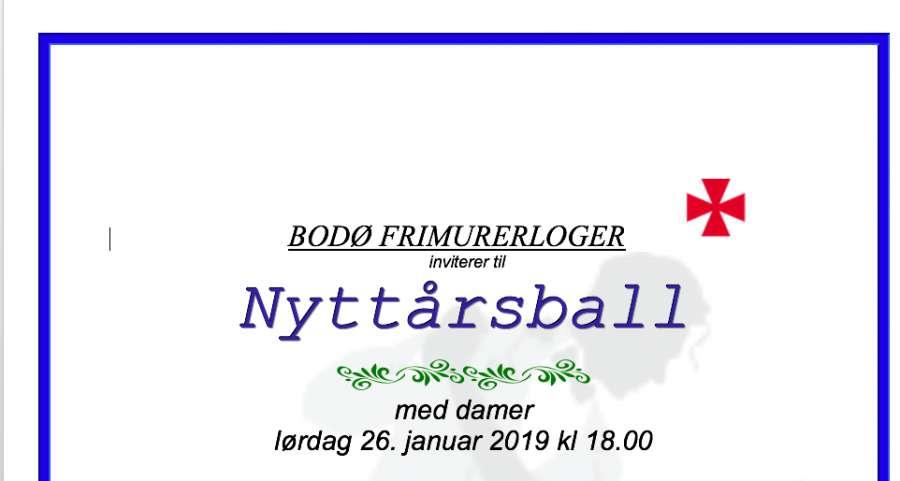 Nyttårsball 2019