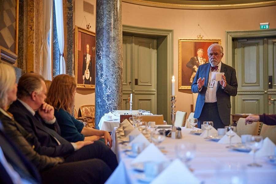 Bjørn Bergholtz fortalte om bakgrunnen for tildelingen av Den Norske Frimurerordens fellesgave for 2018