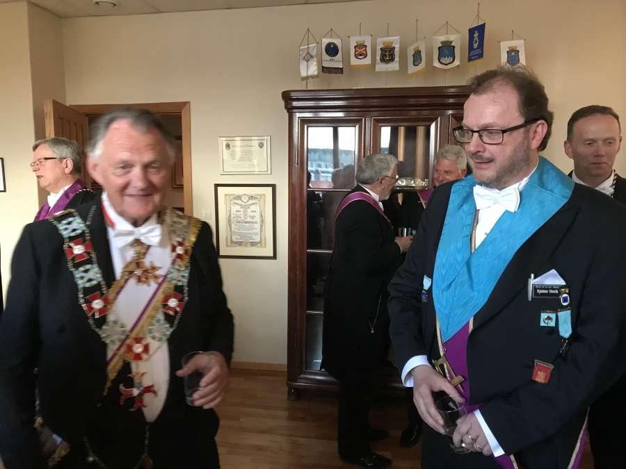 Ordenens Stormester besøkte Oscar i Bergen