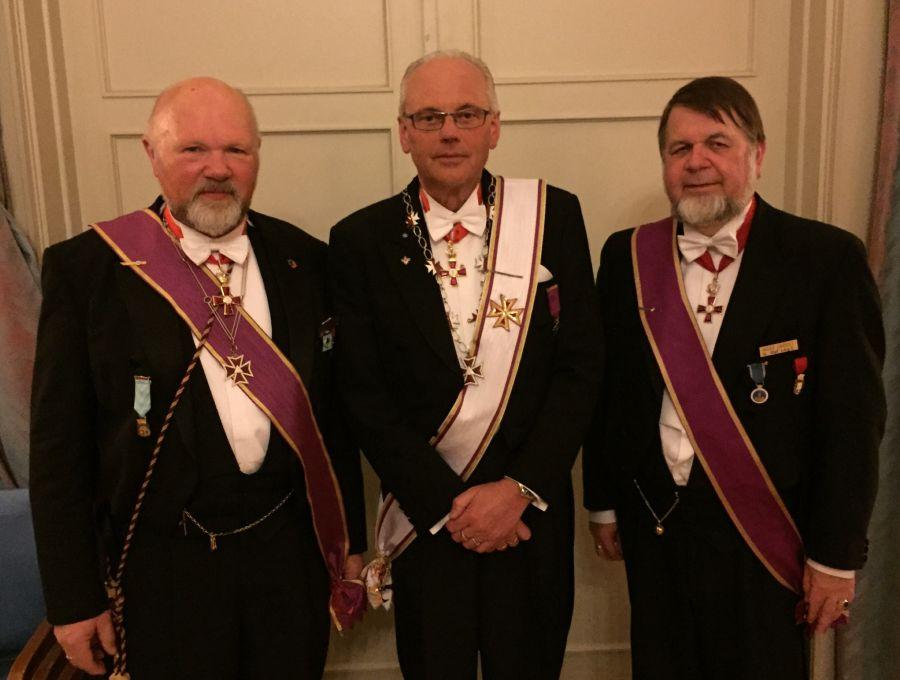 Fra v. Håkon Pharo, Svein Klokkerhaug og Ingar Samset
