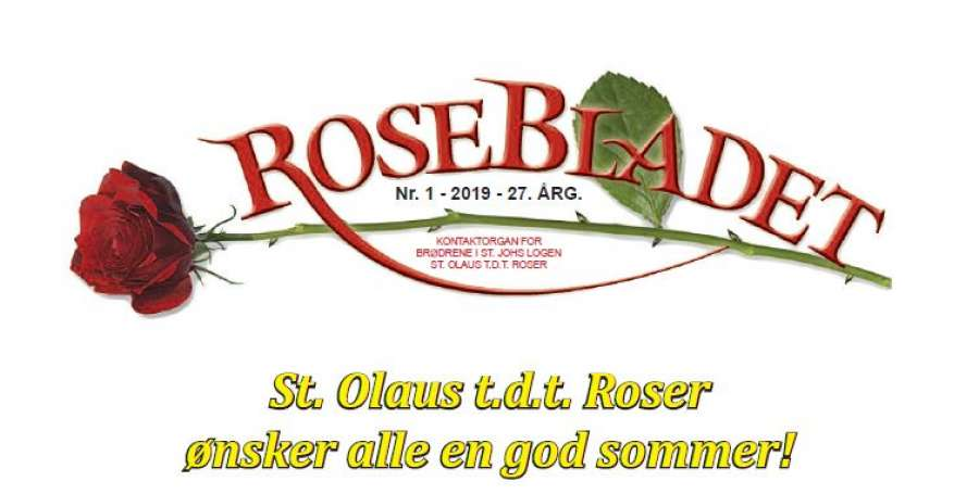 Rosebladet nr 1 - 2019 tilgjengelig for nedlastning