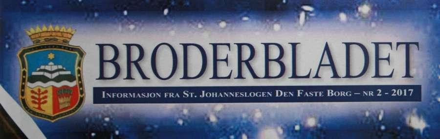 Nytt leseverdig Broderblad fra St.Johanneslogen Den faste Borg