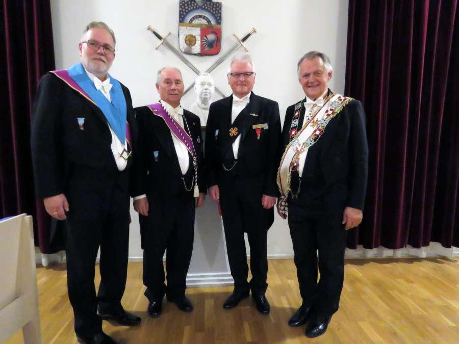 Fra venstre: OM Hans Johansen, Reidar Antonsen, Olav Hogstad og OSM Tore Evensen